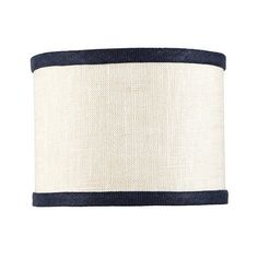 Linen Trim Drum Chandelier Shade for the downstairs bathroom