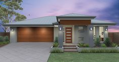 Dixon Homes – House Builders Australia – Travel & Home Decor Inspiration House With Porch, House Front, Modern Architecture House, Modern House Design, Style At Home, Kitchen Decorating, Decorating Ideas, Dixon Homes, Rendered Houses