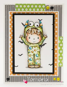 OOAK CC Designs Birthday Halloween card by TamarasHandmadeCards