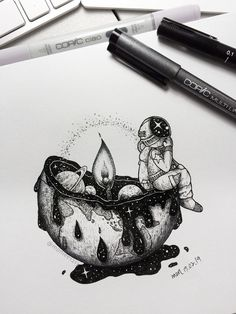 Tattoo sketches 697635798514965665 - Extreme climate becomes popular words on TV now. Chicago was frozen and South au… – Extreme climate becomes popular words on TV now. Chicago was frozen and South australia faces heatw – Source by fabre_juju Space Drawings, Cool Art Drawings, Pencil Art Drawings, Art Drawings Sketches, Tattoo Sketches, Tattoo Drawings, People Drawings, Easy Drawings, Tattoo Art