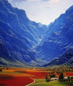 Hex River valley,South Africa.