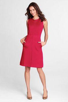 Women's Sleeveless Ponté Sheath Dress with Pockets from Lands' End