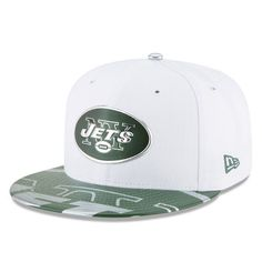 sports shoes 87a55 c6244 Youth New Era White New York Jets 2017 NFL Draft Official On Stage 59FIFTY  Fitted Hat