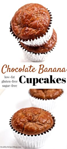 ... cupcakes, chocolate, banana, high protein, low-fat, low-calorie, whole