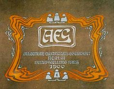 Otto Eckmann, AEG Catalog, 1900