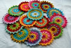 Crochet Flowers for a afghan I am trying to make