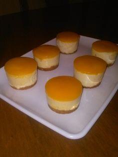 Mini Mango Cheesecakes   The Broke Baker Tropical Desserts, Mango Dessert Recipes, Mango Recipes, Mini Desserts, Cupcake Recipes, Birthday Desserts, Delicious Desserts, Mango Mousse Cake, Mango Cake