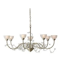 "$100  IKEA SÖDER chandelier, 7-armed Diameter: 28 "" Height: 32 "" Cord length: 3 ' 3 "" Diameter: 72 cm Height: 80 cm Cord length: 1.0 m"