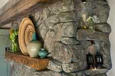 """OK -- I want this mountain cottage, so I am pinning all the available pictures. This one is of the stone fireplace detail in the """"Mountain Cottage"""" by TKP Architects. The link will take you to some of this firm's other amazing structures. Rustic Cottage, Cottage Style, Cabana, Cottage Design, House Design, Design Homes, Old Greenwich, Mountain Cottage, Mountain Living"""