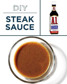 Make your own steak sauce and feel like a boss. Make your own steak sauce and feel like a boss. Homemade Steak Sauces, Homemade Spices, Homemade Seasonings, Sauce Dips, Sauce Recipes, Cooking Recipes, Chutneys, A1 Steak Sauce, Spice Mixes