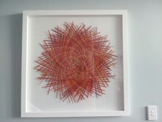 my latest framing work...dyed flax mat