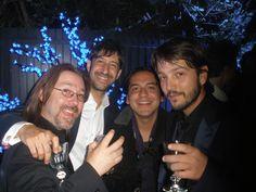 Chema Yazpik, Salvador Franco y Diego Luna