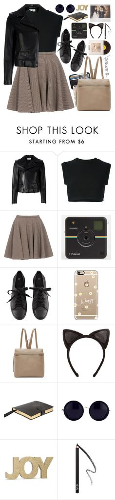 """2146. This Will Be My Year."" by chocolatepumma ❤ liked on Polyvore featuring Yves Saint Laurent, adidas Originals, McQ by Alexander McQueen, H&M, Casetify, Kara, Charlotte Russe, Zolà, Smythson and Linda Farrow"