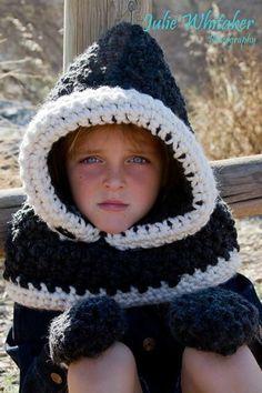 The Fern Hood / Mitt Set - crochet made to order - used The Velvet Acorn pattern