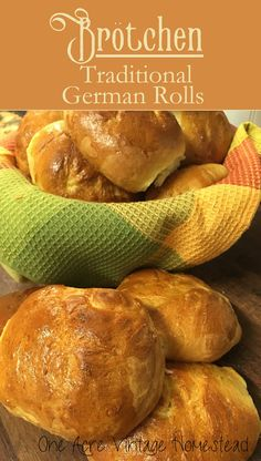 Crispy and crusty yeast rolls. Brotchen - Traditional German Rolls