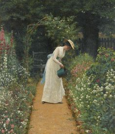 My Lady's Garden, 1905 // Edmund Blair Leighton