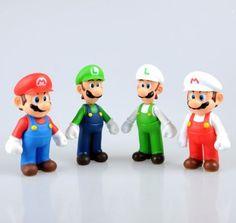 Super-Mario-Bros-Lot-4Pcs-Mario-And-Luigi-Figure-Toy-Super-Quality-lxj