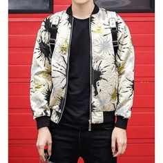 Clothes Type: Jackets  Material: Polyester, Cotton  Collar: Mandarin Collar  Clothing Length: Regular  Style: Fashion  Weight: 1KG  Sleeve Length: Long Sleeves  Season: Fall, Spring  Package Contents: 1 x Jacket  Our SizeBustLengthShoulder WidthSleeve Length M108635254 L1126...