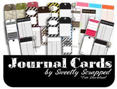 Free Downloadable Journal Cards+ = I Love It