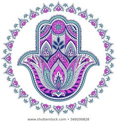 Find Vector Indian Hamsa Hand Symbol Multicolor stock images in HD and millions of other royalty-free stock photos, illustrations and vectors in the Shutterstock collection. Fatima Hand, Om Art, Hamsa Art, Hamsa Design, Black Paper Drawing, Hamsa Jewelry, Hand Symbols, Hamsa Tattoo, Art Painting Gallery