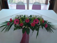 Civil table arrangement Flair With Flowers Wedding Flowers Warwickshire at Henley golf and country cub