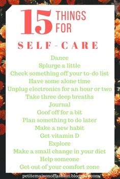 15 Things for Self-Care #lifestyle