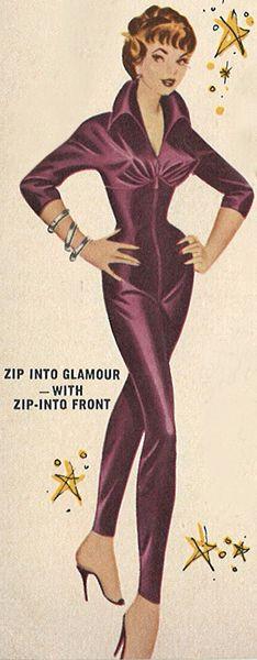 A retro satin jumpsuit? #meow