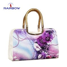 Female Flower Print Japanned Leather Bag Oil Painting Shaping Women'S Handbag Vintage Bags Messenger Bag Handbags Purses From Classicalgirl1989, $34.04| Dhgate.Com