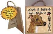 Wood Greyhound Love Sign