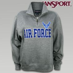 Jansport US Air Force 1/4 Zip II Sweatshirt | Armed Forces Gear - size medium