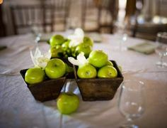 Apple Centerpieces « Orange Tree Wedding Blog