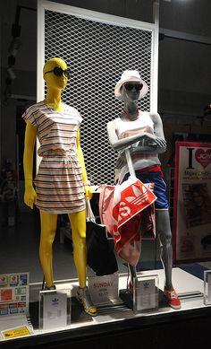adidas window displays Summer 2012, Budapest visual merchandising