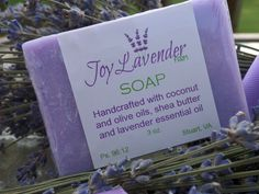Lavender Handcrafted Soap Cold Processed Lavender Soap Lavender Farm Soap All natural lavender soap Homemade Lavender Soap