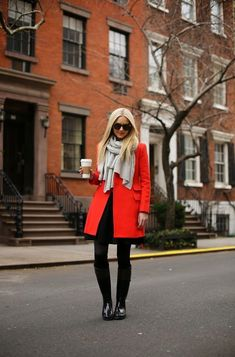 How to Wear Red Coats – Street Style Inspiration 2018 | FashionTasty.com