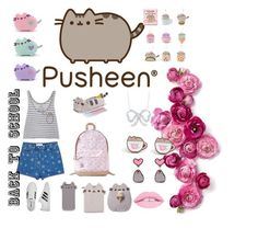 #PVxPusheen by danielle-777 on Polyvore featuring polyvore fashion style Pusheen Valentino adidas Roberto Coin Gund clothing contestentry PVxPusheen