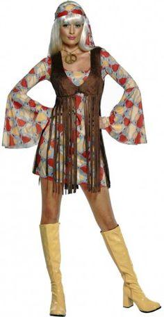 Vous partez en festival avec votre van et votre guitare ? Adoptez le déguisement hippie 1968 femme pour être 100% dans l'ambiance !
