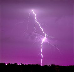 Purple & Lightning - photo taken by ViaMoi at Macdonald-Cartier Int'l Airport, ON, CA.