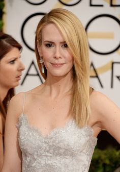 Sarah Paulson attends the 71st Annual Golden Globe Awards held at The Beverly Hilton Hotel on January 12, 2014 in Beverly Hills, California.