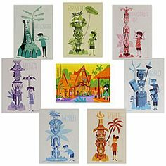 A gift from my Princess who knows how much I love the Tiki Room. Shag's set of 8 pop postcards celebrating the Anniversary of Walt Disney's Enchanted Tiki Room. Disney Birds, Disney Enchanted, Tiki Room, Disney Shoes, Disney Merchandise, Disneyland Resort, 50th Anniversary, Walt Disney World, Childhood