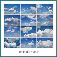 Ilość nakładek nieba w zestawie: 12 Format: JPG Rozdzielczość: px, 300 DPI Sky Photoshop, Photoshop Overlays, Photoshop Elements, Picture Editing Software, Editing Pictures, Cloud Photos, Digital Backdrops, White Clouds, Sunset Sky