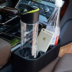 Car Seat Gap Mounted Cup Holder Food Drink Bottle Mount Stand Storage Organizer