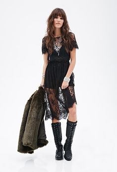 Sheer Lace Dress | Forever 21 - 2000058307