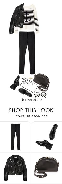 """Untitled #2192"" by lullilia ❤ liked on Polyvore featuring Lucien Pellat-Finet, Alexander Wang, Monki, Yves Saint Laurent, A.P.C. and Retrò"