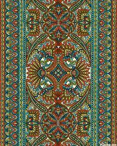 La scala 6 symmetrical paisley florals quilt fabrics for La scala marbella