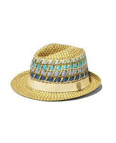FEDORA COLOR STRAW    One of the most versatile silhouettes of the season, this Fedora from Vince Camuto is perfect for sunny weather! Inspired by the warm weather of St. Barths, this hat is constructed from paper straw and self-color inserts at the crown for ventilation and a beach-friendly aesthetic