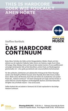 """check out my lecture about the """"Hardcore Continuum"""" plus Drum & Bass, Jungle, Dubstep and more this Tuesday at Institut für Populäre Musik at Folkwang Universität der Künste (09.06., 18:00 ct, Prinz-Regent-Str. 50-60, Bochum, Germany)"""