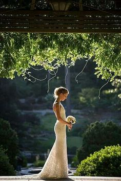 This photo is made to look as if she's the happiest bride, the scenery is beautiful