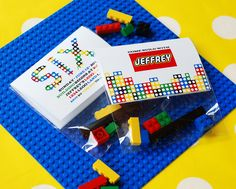Colorful Lego party printables from Anders Ruff @Carrie Kane #legoparty