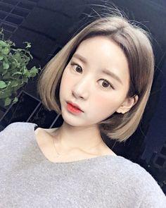 단발머리 반묶음 예쁘게묶기 핑크브라운염색 진앤정헤어 묘정쌤 : 네이버 블로그