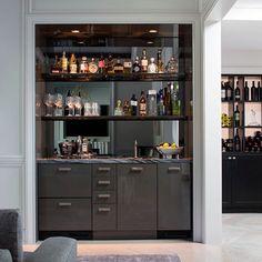 The Kitchen Design Group Home Wet Bar, Bars For Home, Bar Sala, Basement Bar Plans, Dining Cabinet, Modern Home Bar, Built In Bar, Home Bar Designs, Drinks Cabinet